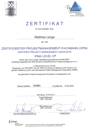 zertifikat - Bewerbung Informatiker